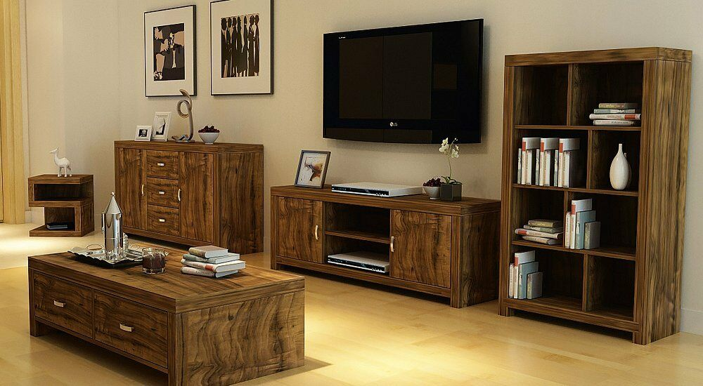 Luxury living room furniture set acacia effect coffee - Dresser as tv stand in living room ...