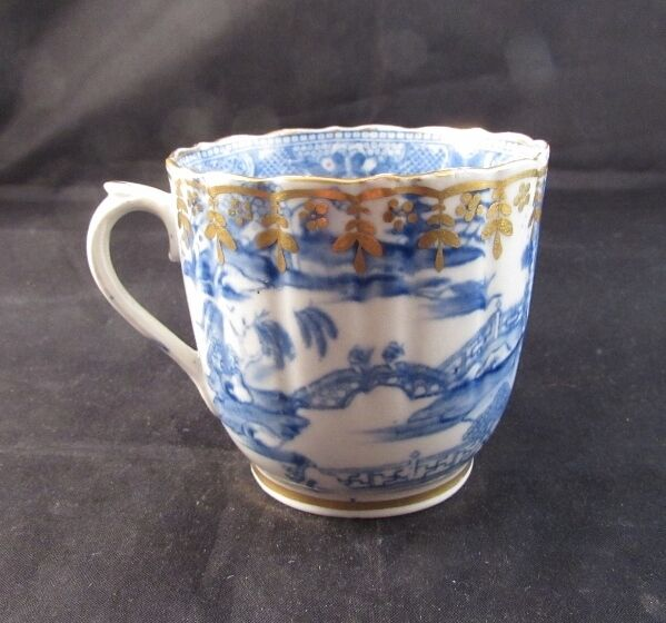 Antique Caughley Blue Willow Cup 18th Century Ebay