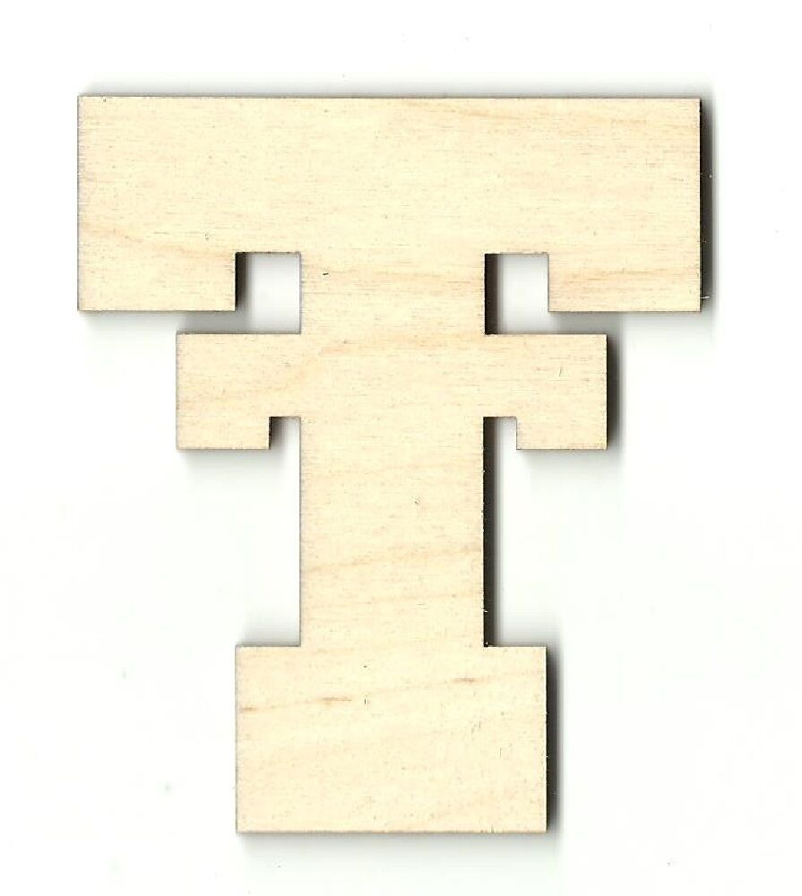 Texas tech unfinished wood shapes craft supply laser cut for Wooden craft supplies online