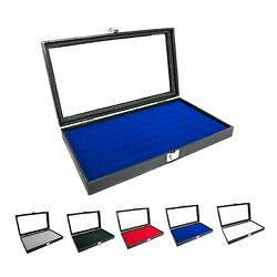 Kyпить Novel Box Glass Top Black Jewelry Display Case With 36 or 72 Foam Ring Inserts на еВаy.соm