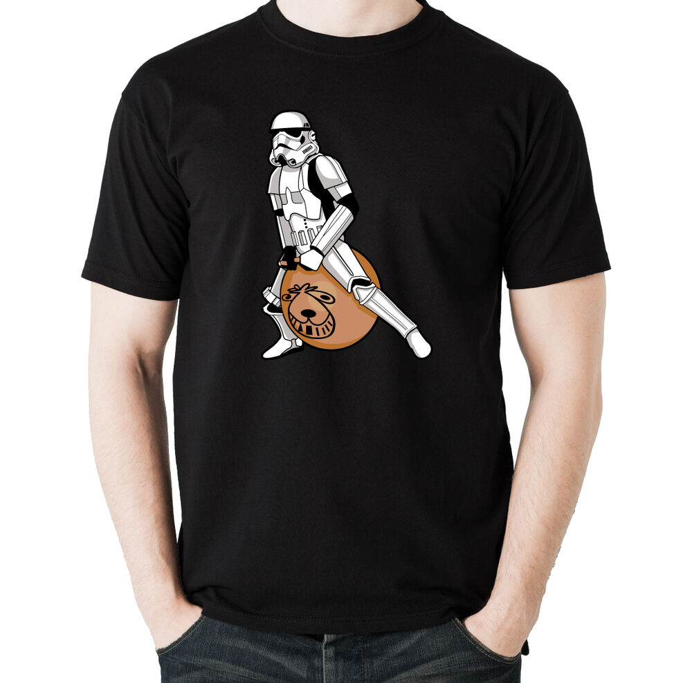Stormtrooper On A Spacehopper Mens Funny Star Wars T Shirt