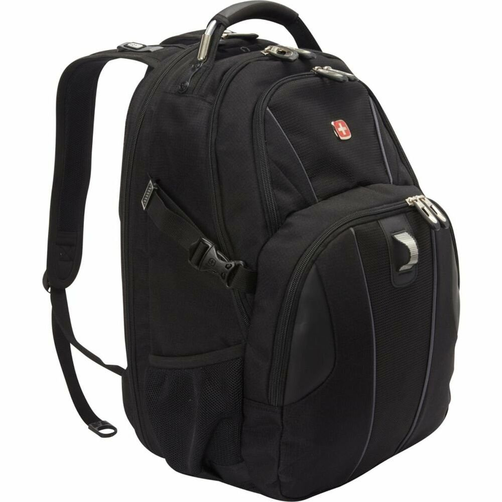 Brand new black swissgear travel gear scansmart laptop backpack 3103 ebay for Travel gear brand