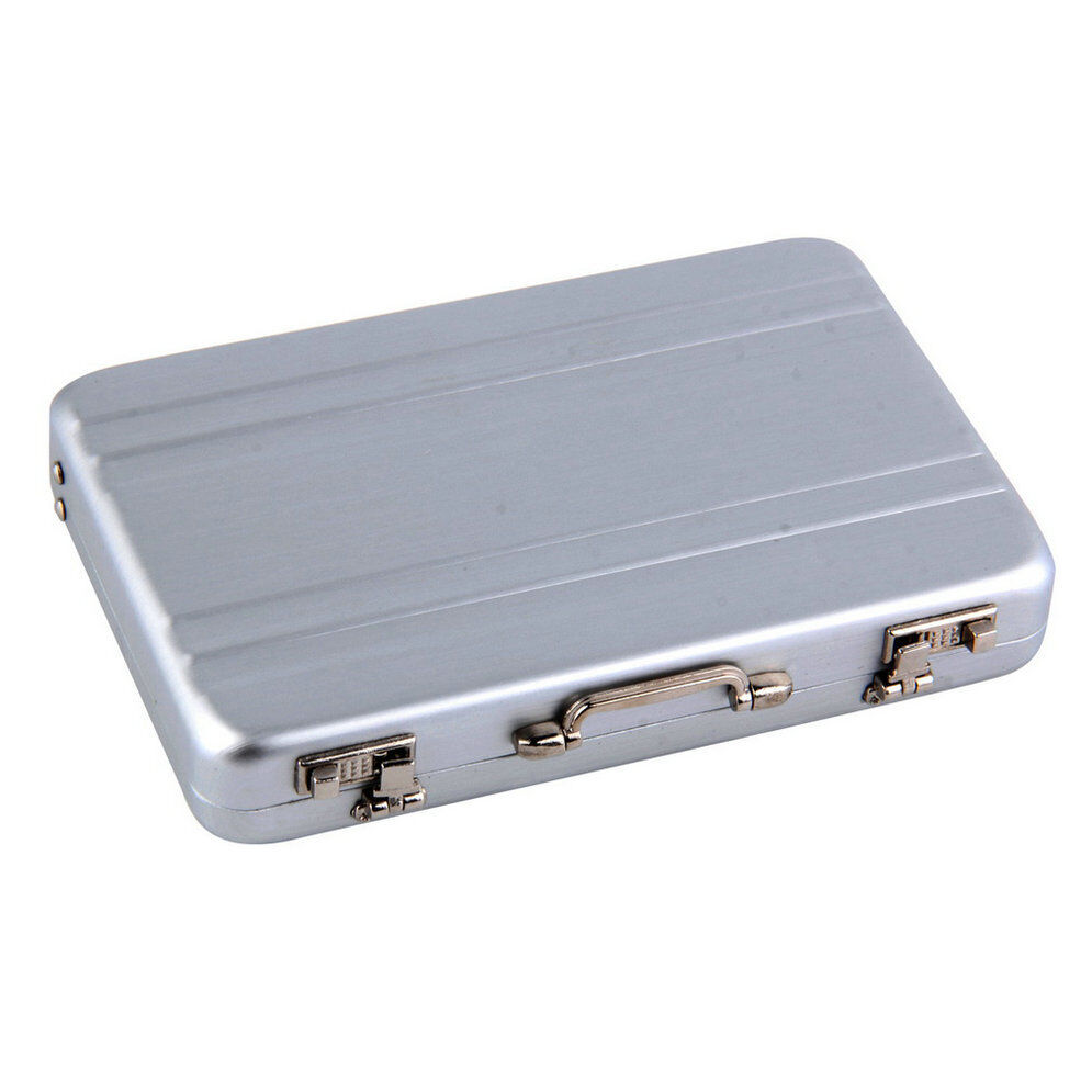 Nf 1pc cool aluminum briefcase business card credit card for Briefcase business card holder
