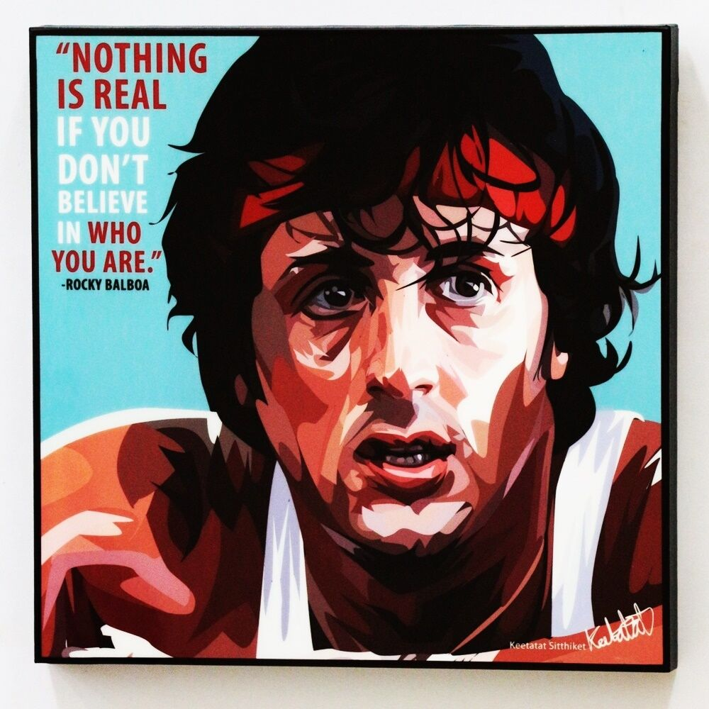 Wall Decals Pop Art : Rocky balboa canvas quotes wall decals photo painting