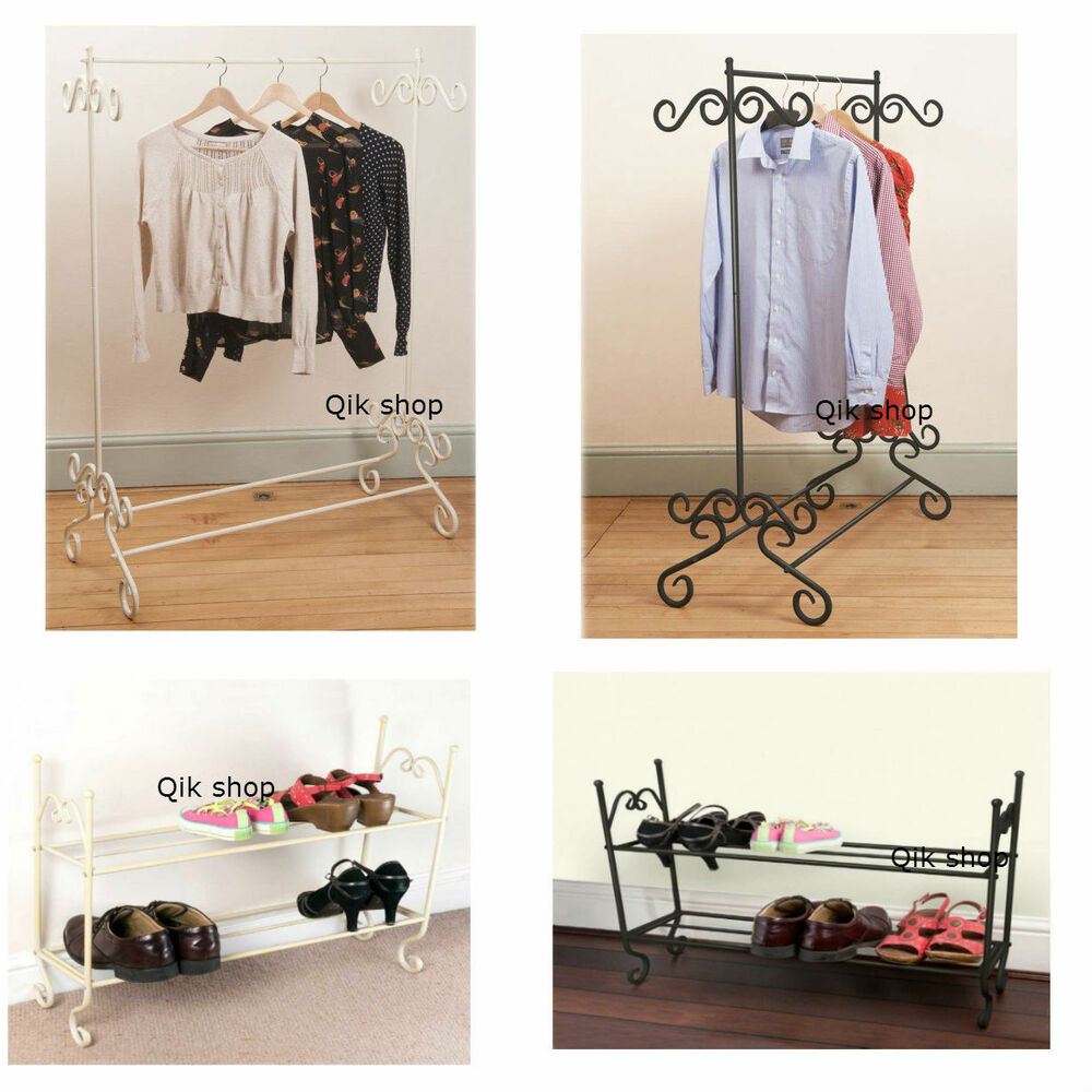 Vintage style metal shoe rack clothes rail clothing Stylish shoe rack