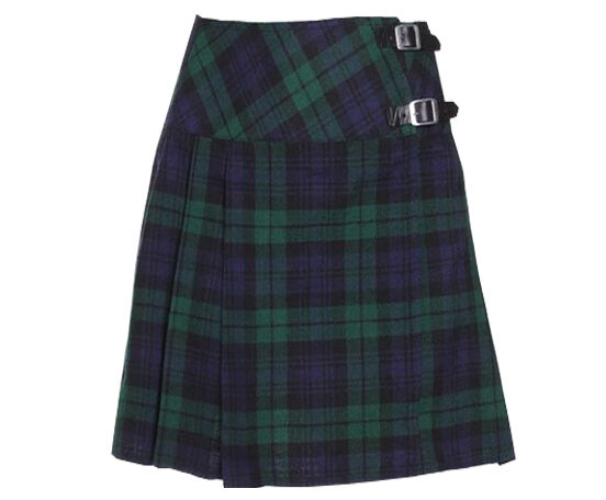 hm scottish mini skirt black tartan
