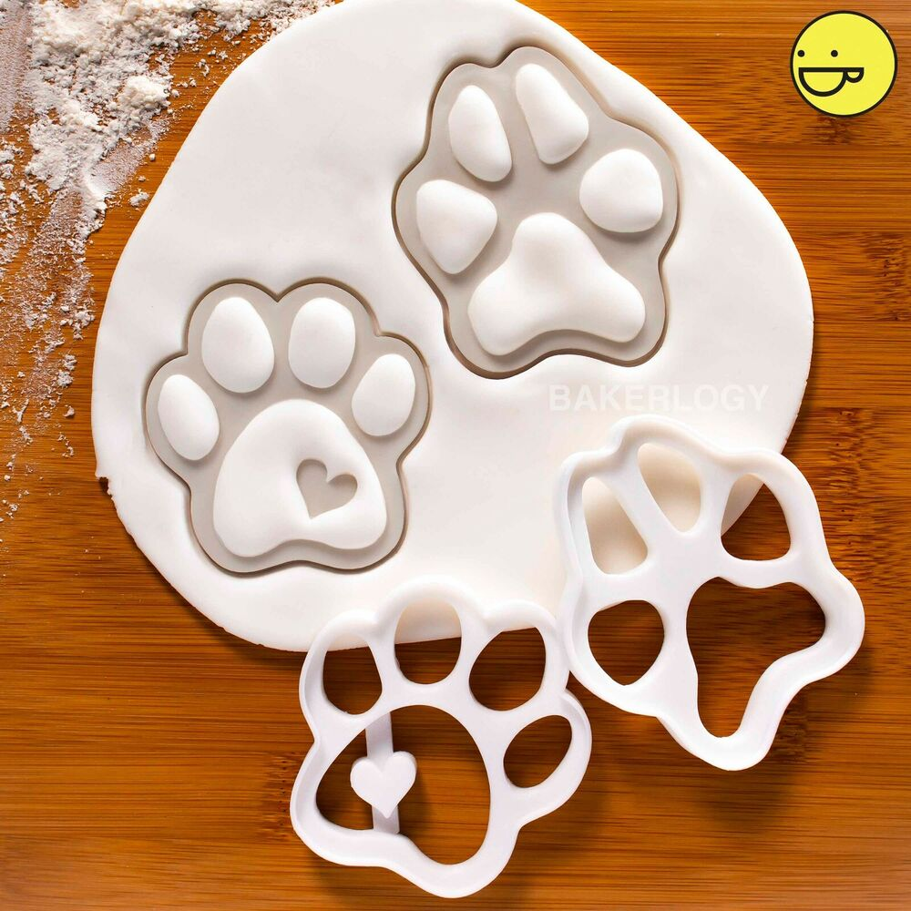 Dog Paw Prints Biscuit Cutters Paws Cute Dogs Footprints