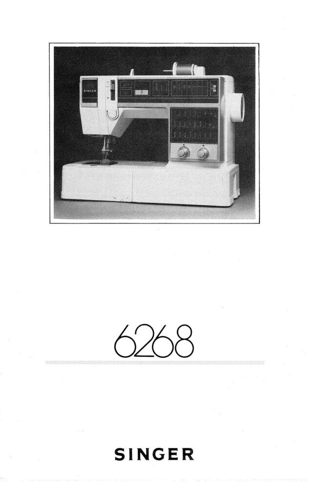 Singer 40 Sewing MachineEmbroiderySerger Owners Manual Reprint Amazing Singer 6268 Sewing Machine For Sale