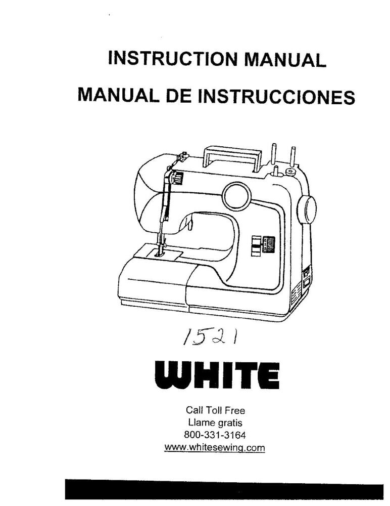 White W1521 Sewing Machine Embroidery Serger Owners Manual