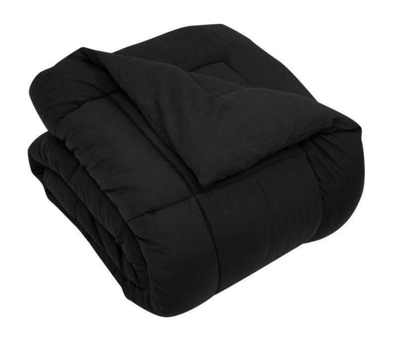 Luxury Black Down Alternative Comforter Blanket Duvet