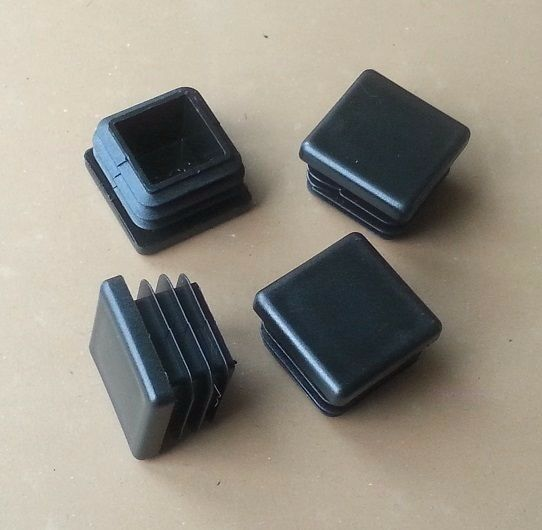 Mm square plastic end caps inserts plugs steel