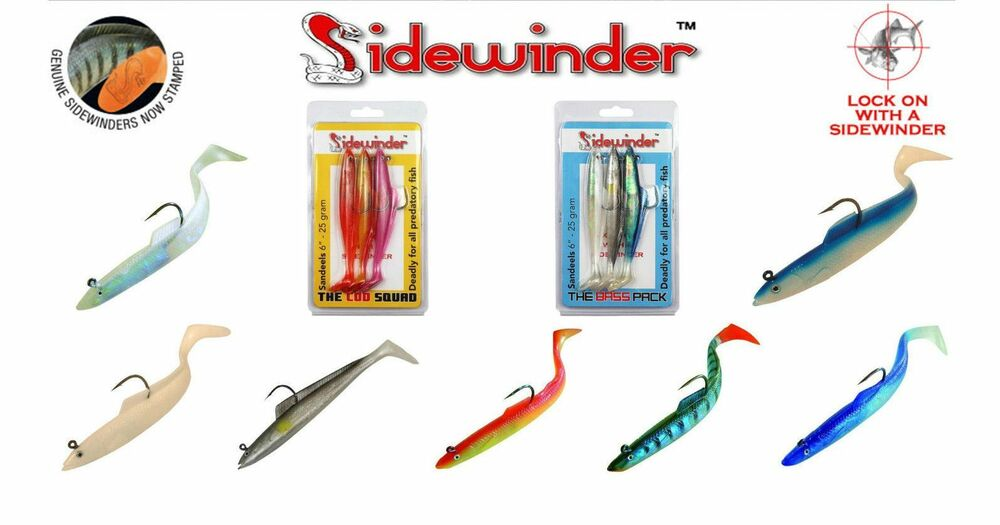Holo Shads Cod Pollack Bass Ling Sea Fishing Lures Sidewinder Super Solid