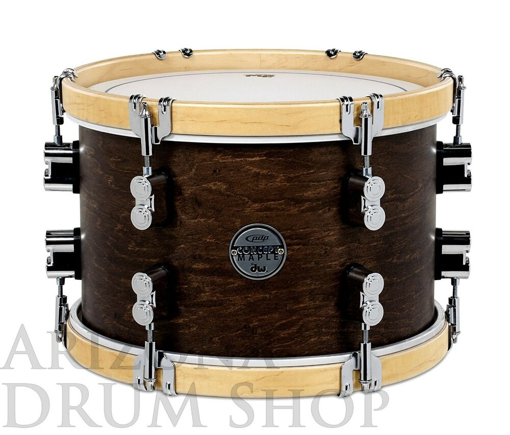 Pdp concept maple classic 13 x 9 tom satin tobacco for 13 inch floor tom