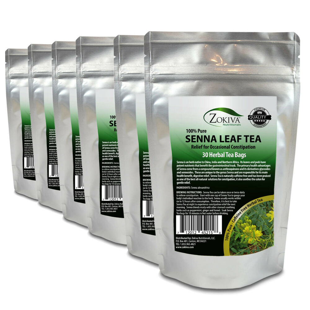 Senna tea 6 pack 180 bags 100 natural herbal laxative