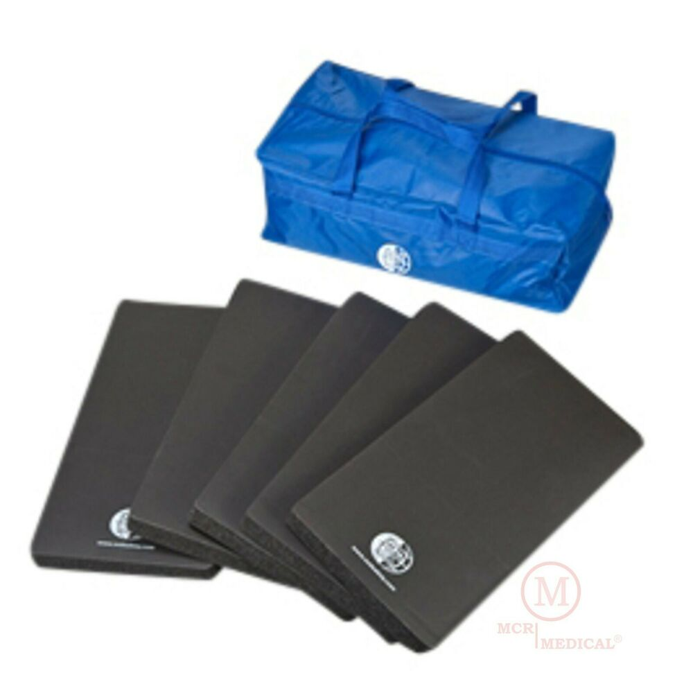 5 Pack CPR Kneeling Pad Training Mats W Carry Case, 16x8x1