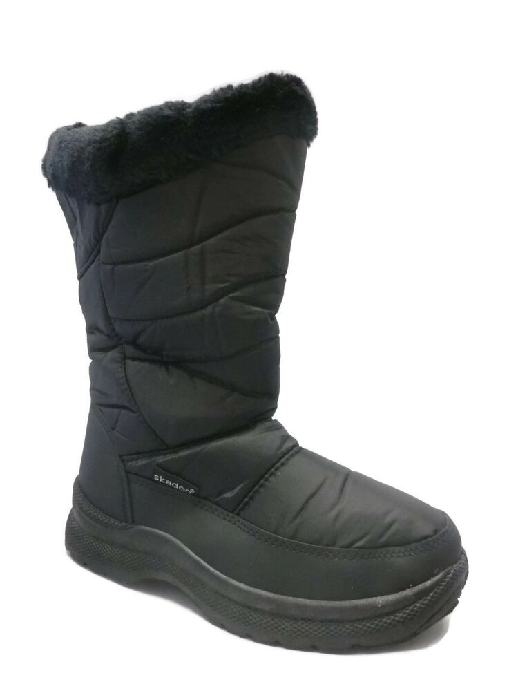 Ladies Black Snow Boots- SKADOO Winter Boots Sizes 5-11