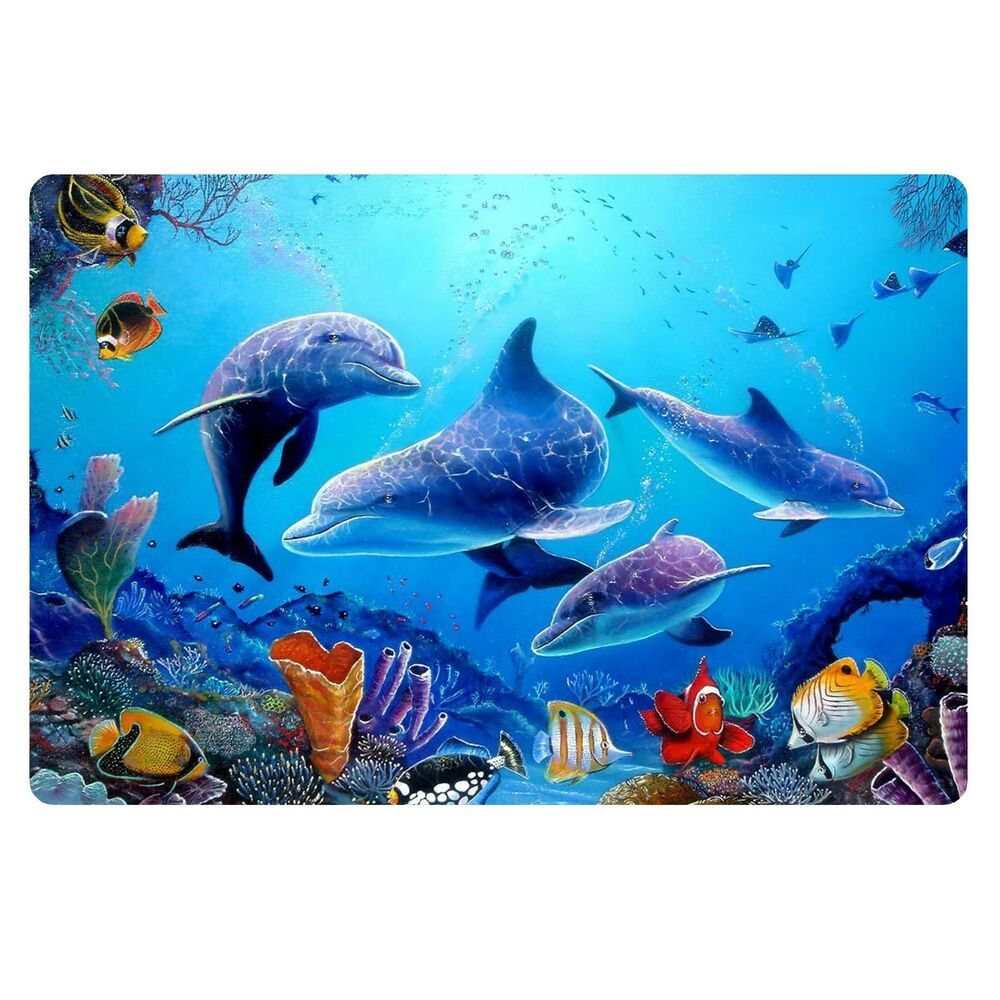 Fashion tropical fish doormat room entrance mat bathroom for Fish bath rug