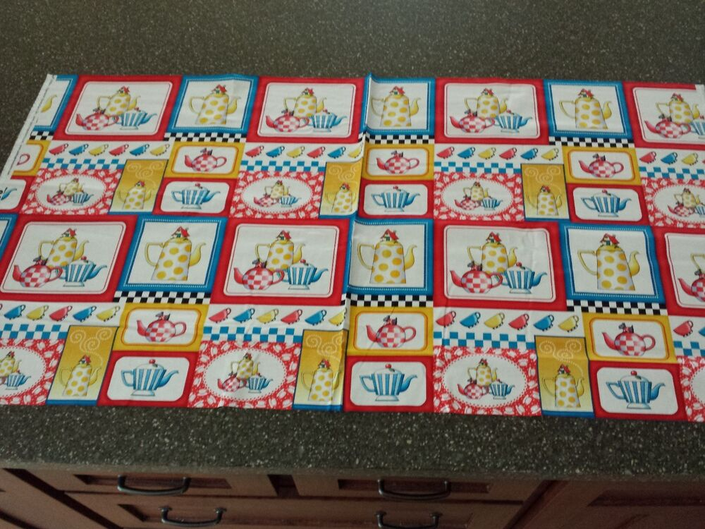Tea Time Patch Panel 23x43 Mary Engelbreit Quilting