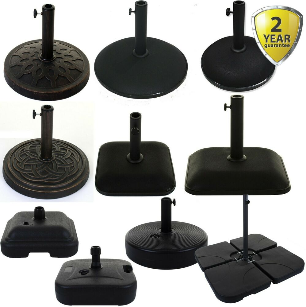 Umbrella Stand For Garden: PARASOL BASE OUTDOOR GARDEN HOLDER UMBRELLA STAND BLACK