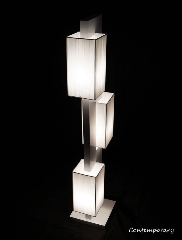 White modern contemporary floor lamp zk002l lighting for for Ebay living room lights