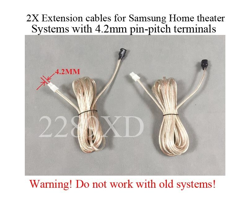 2 12ft speaker extension cables/wires made for Samsung Home Theater ...