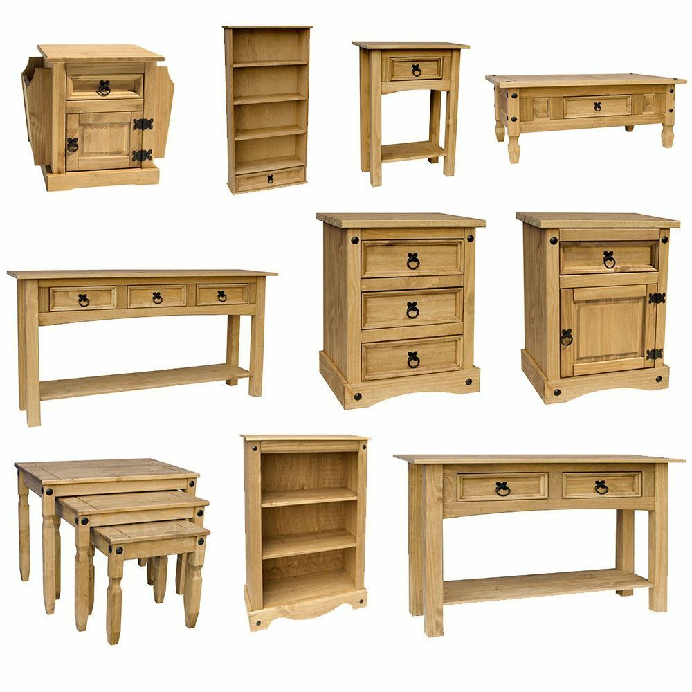 Corona panama mexican solid pine wood furniture dining for Living bedroom furniture