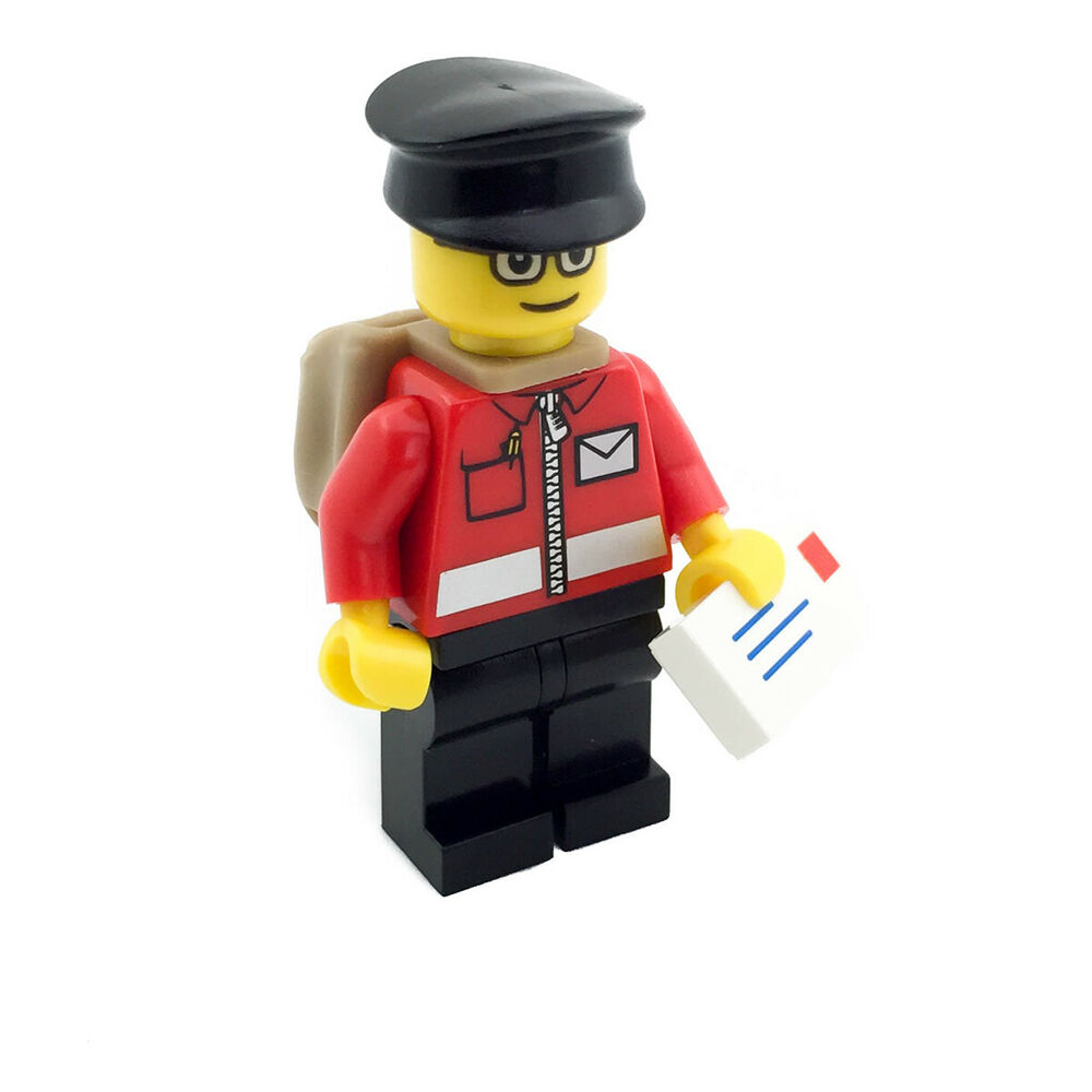 lego postman post office man minifigure with letters. Black Bedroom Furniture Sets. Home Design Ideas