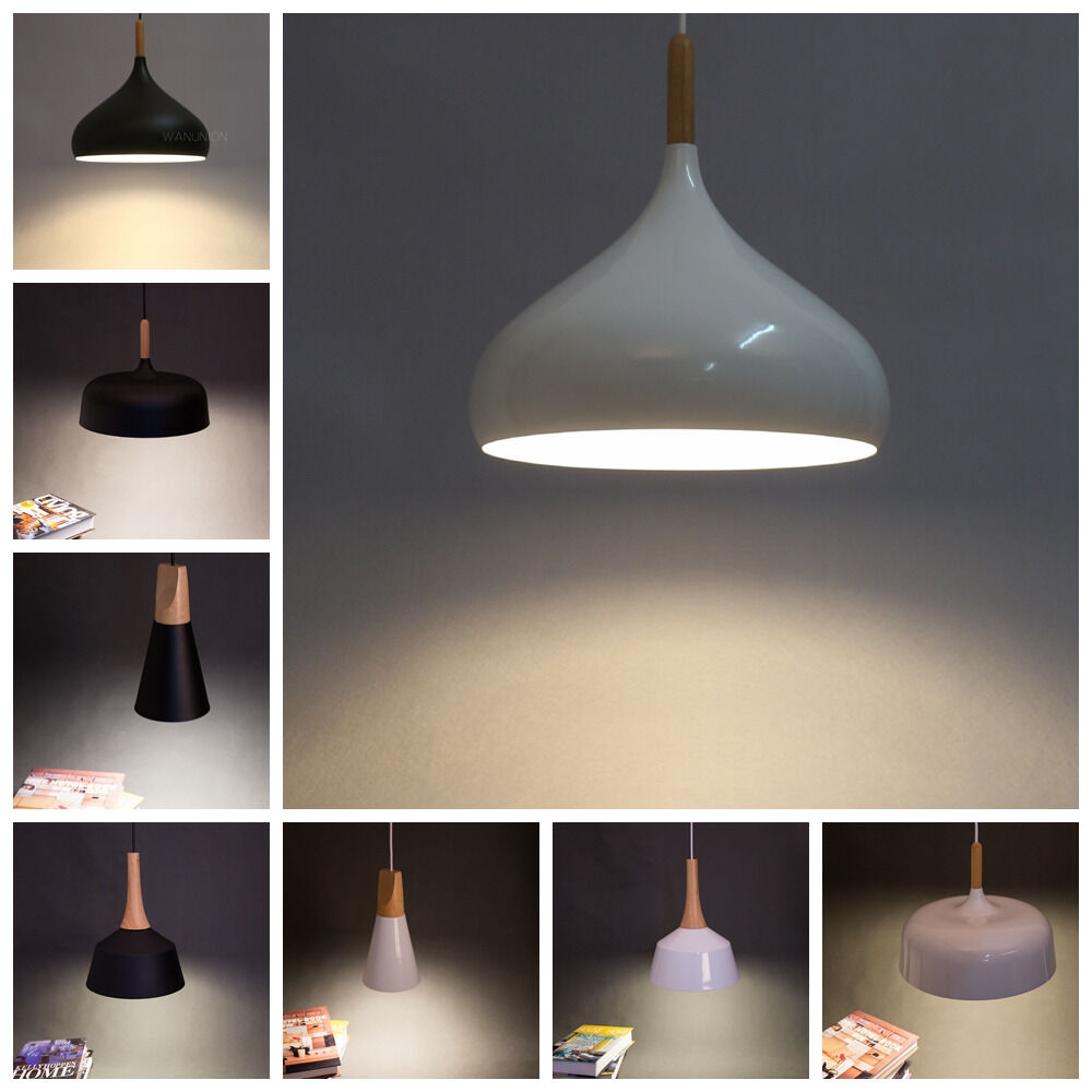 modern pendant lighting chandelier wooden lights ceiling lamps shade
