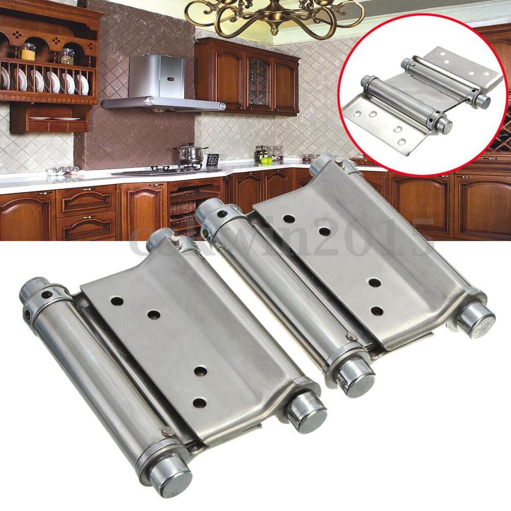 2pcs 3 Inch Double Action Spring Hinge Saloon Cafe Door