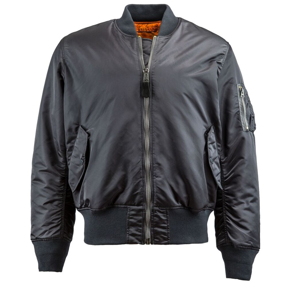 alpha industries ma 1 flight jacket steel blue bomber. Black Bedroom Furniture Sets. Home Design Ideas