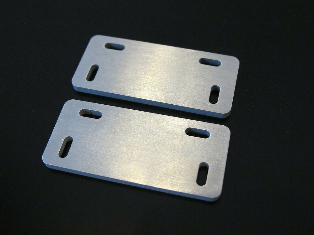 Pair aluminum fuel tank side step mounting bracket plate