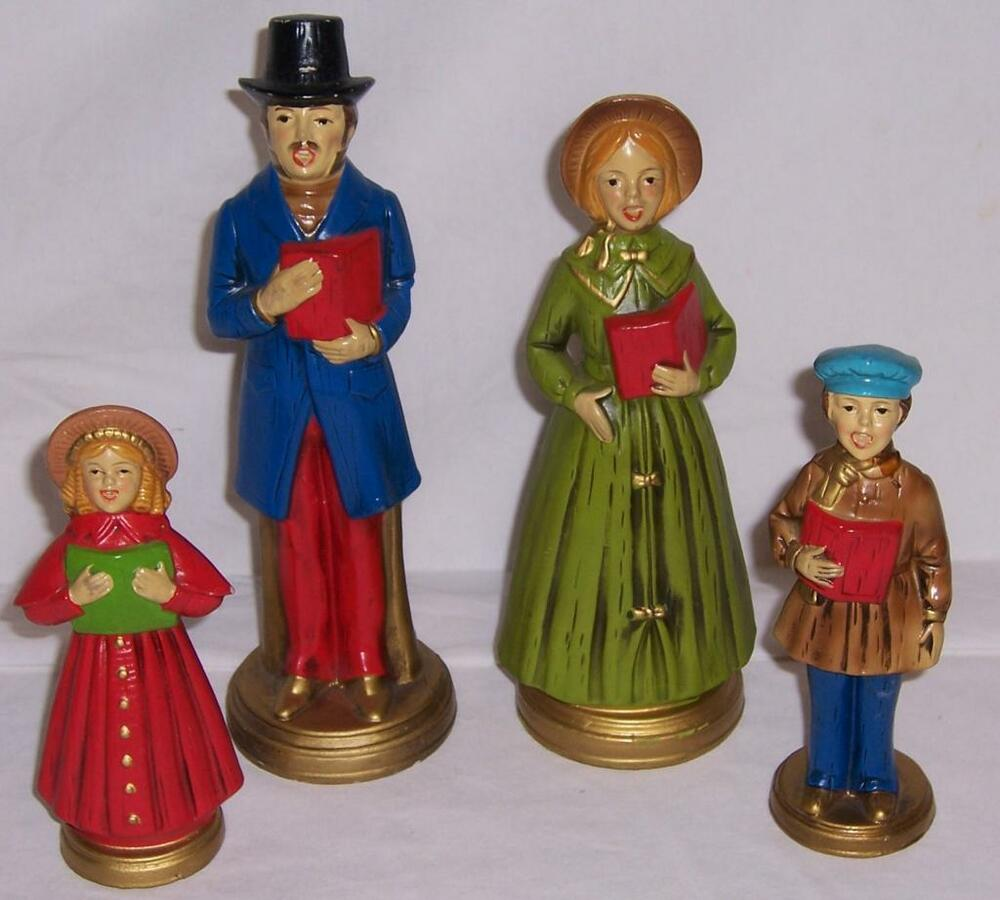 Victorian Christmas Carolers Figurines: Vintage 4 Piece Christmas Carolers Décor Parma AAI Japan