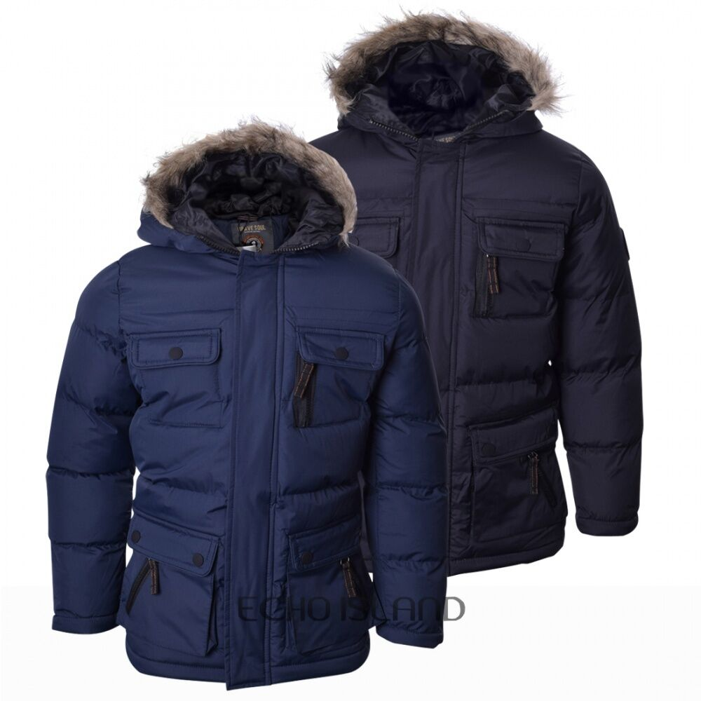Boys Childrens Thick Heavy Padded Waterproof Winter Coat
