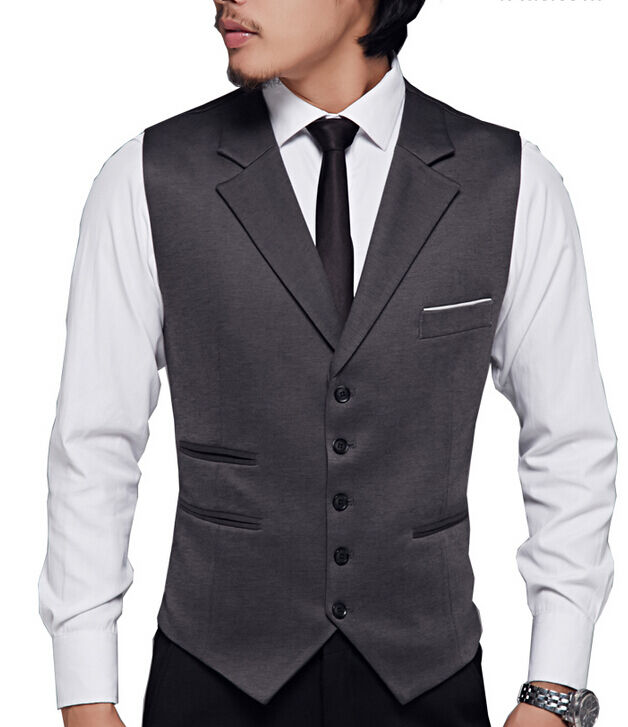 Fashion Dress Mens Wedding Sleeveless Suits Lapel Formal Slim Fit Waistcoat Vest Ebay