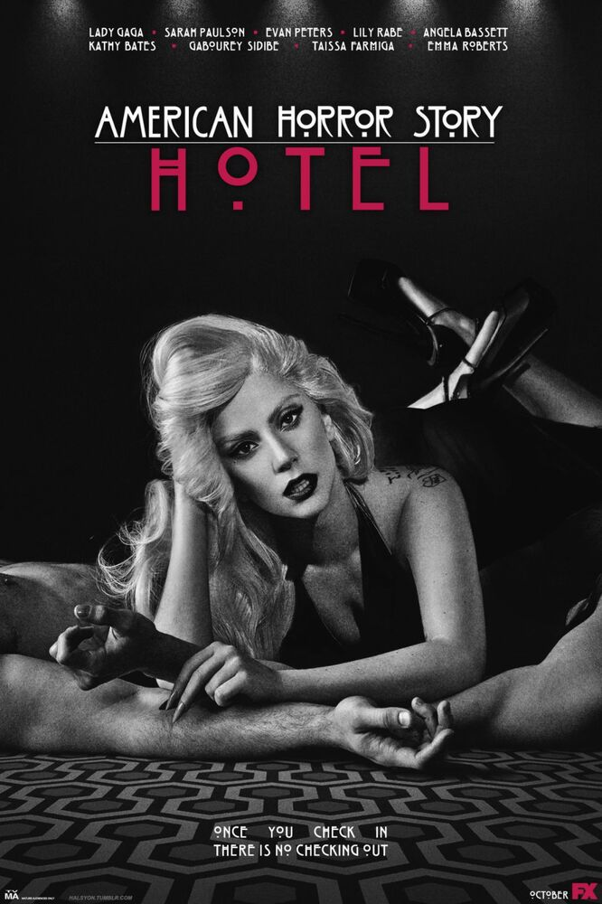 American horror story hotel tv show poster lady gaga ebay for American horror story wall mural