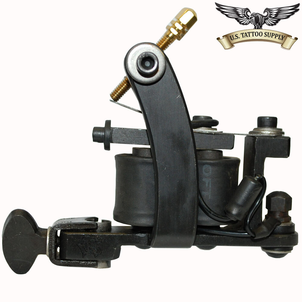 Black iron left handed mini bulldog tattoo machine for Tattoo gun parts