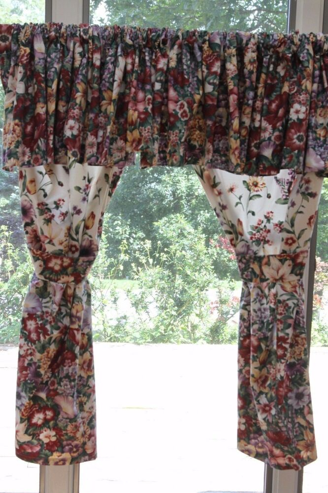 Jc Penny Custom Floral Curtains Valance Or Panels