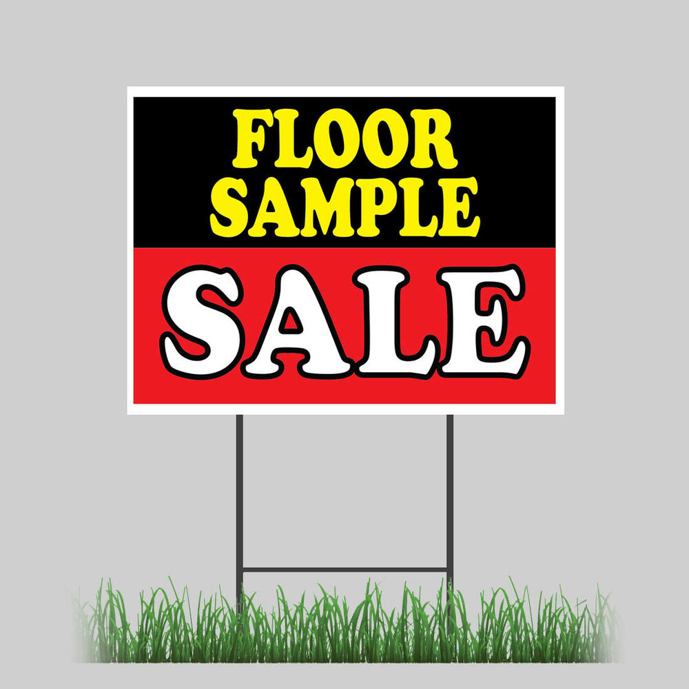 18 X24 Floor Samples Yard Sign Sale Furniture Discount Chair Lamps Retail Store Ebay