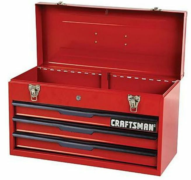 Craftsman 3-Drawer Tool Chest Box Storage Cabinet Toolbox