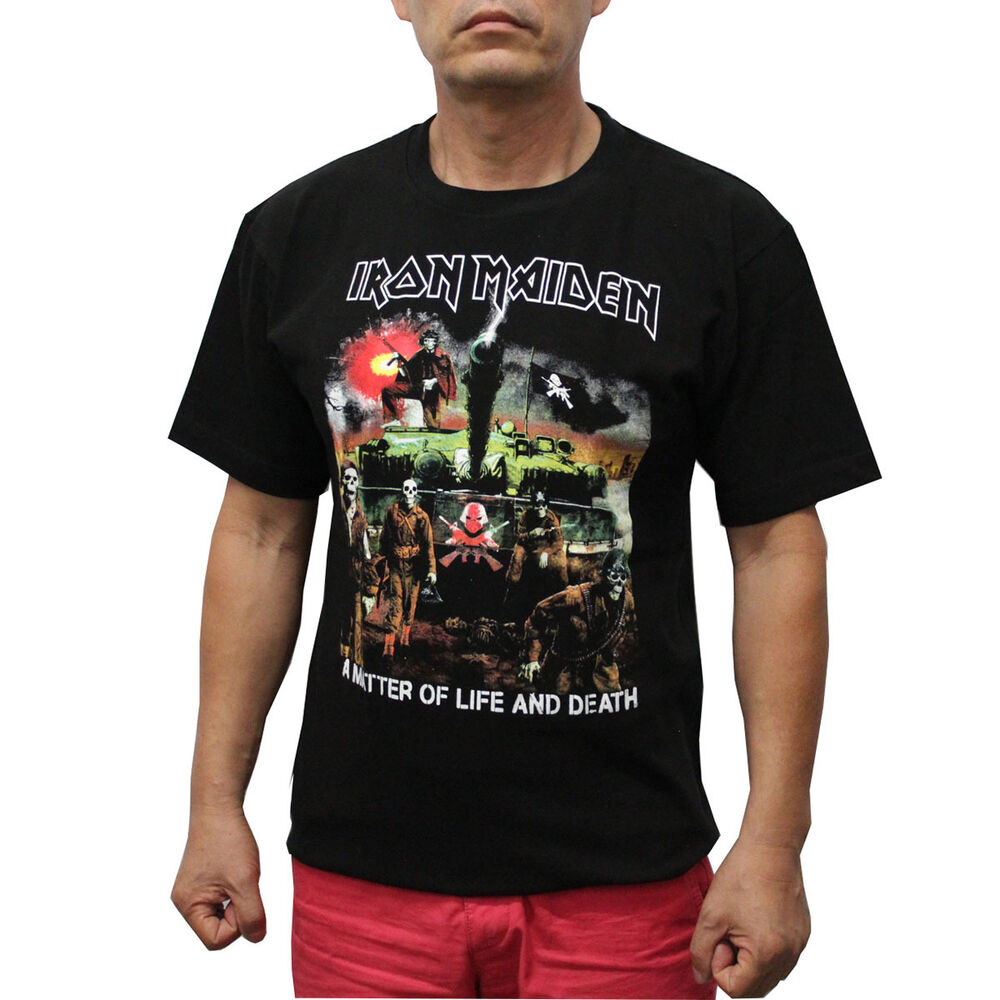 iron maiden rock band t shirt a matter of life and death. Black Bedroom Furniture Sets. Home Design Ideas