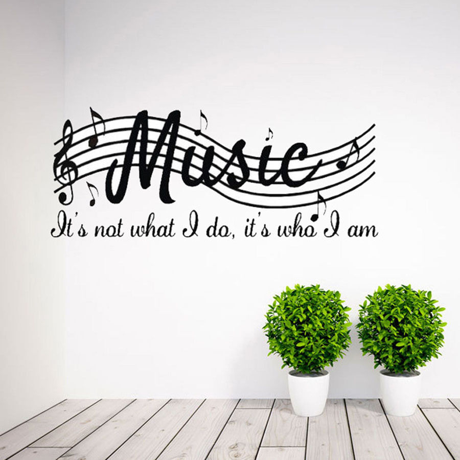 Removable Music Is Not Musical Notes Room Decor Art Vinyl