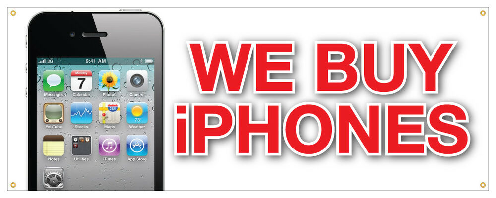 we buy iphones we buy iphones banner apple computers most money retail 13286