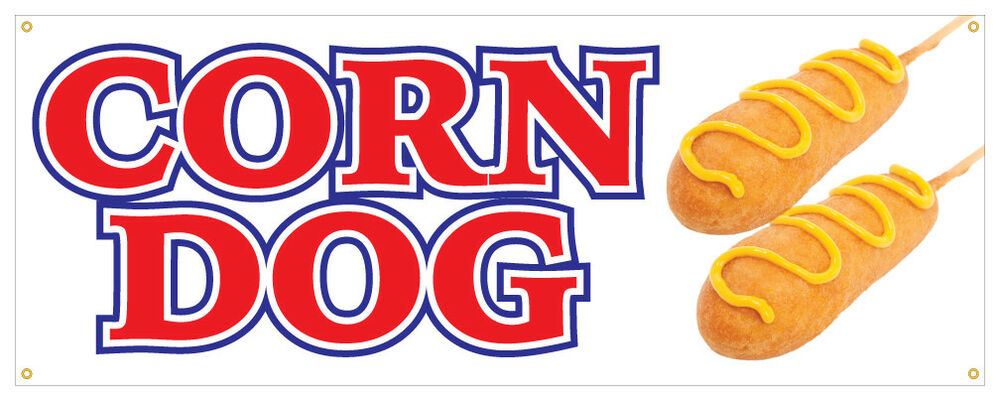 Corn Dog Banner Hot Dog Hot Fresh On A Stick Concession Stand Sign ...