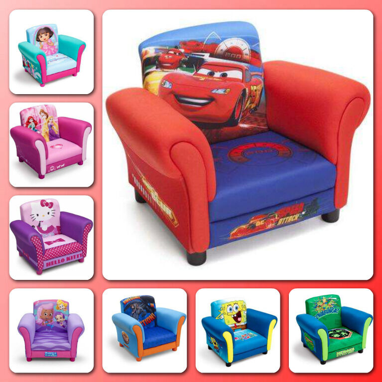 Upholstered Chair Toddler Armchair Children Furniture Disney Kids Bedroom Seat : eBay