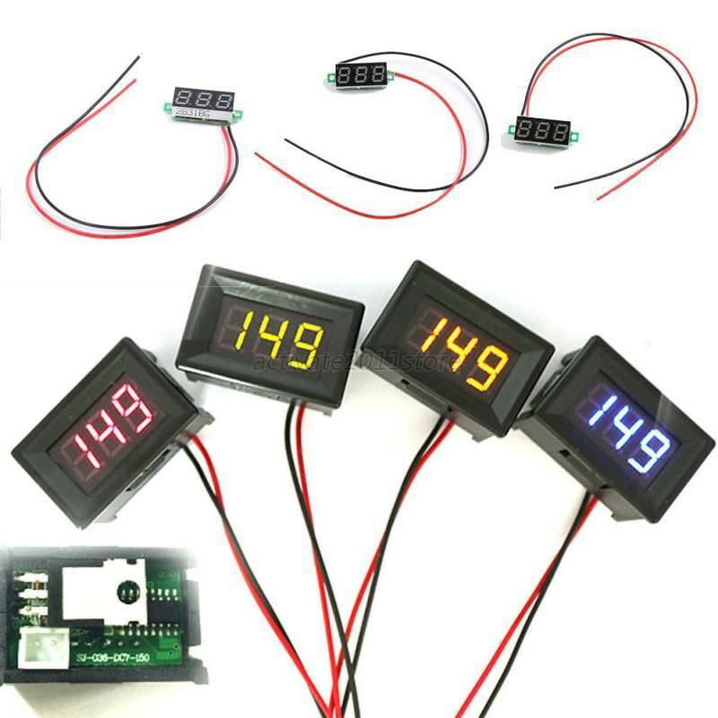Volt Meters Panel Mount : New mini quot dc digital voltmeter panel mount led volt