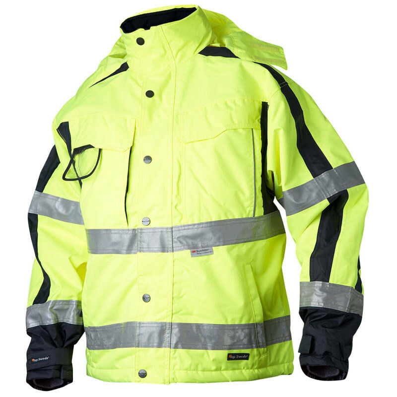 Waterproof Hi Vis Insulated Warm Jacket High Visibility
