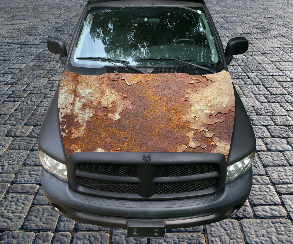 H113 Rust Rusty Rusted Hood Wrap Wraps Decal Sticker Tint