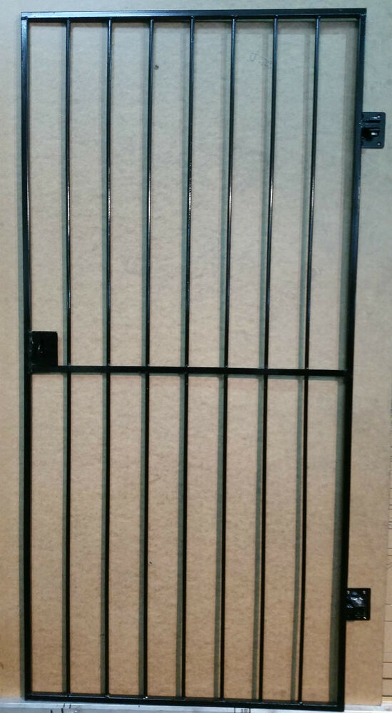 Security door gate metal garden side gate wrought iron for Metal security doors