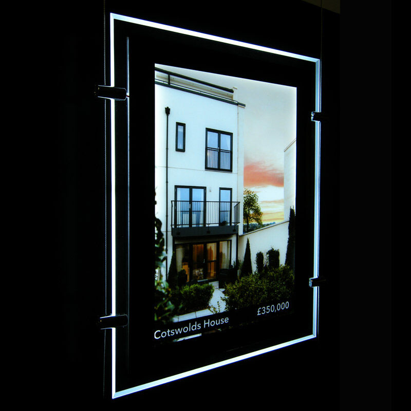 a4 led fenster licht tasche leuchttafeln immobilienmakler display einzeln seiten ebay. Black Bedroom Furniture Sets. Home Design Ideas