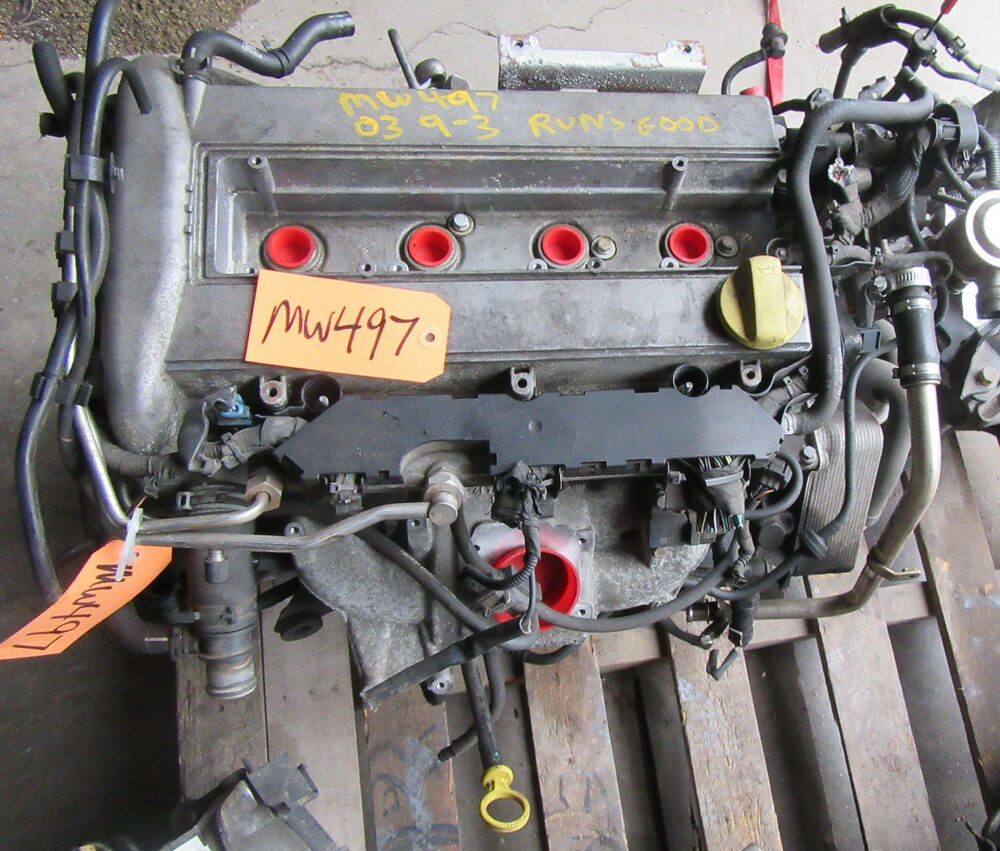 2006 Saab 9 3: 03-07 SAAB 9-3 ENGINE MOTOR TURBO B207L LOW PRESSURE VIN S